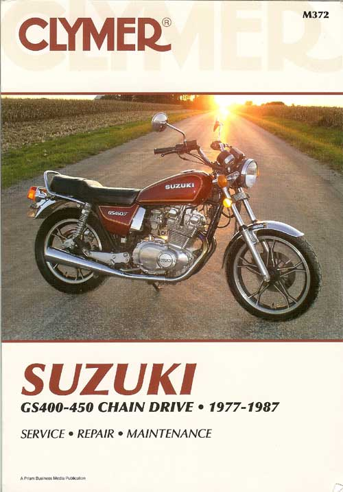 Suzuki GS400 GS425 GS450 1977 1987 Clymer Service Repair Manual Book New